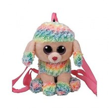 Rainbow Poodle Back Pack