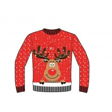 Knitted Red Adult Reindeer Christmas Jumper *COMING SOON*