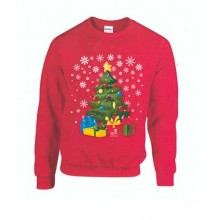 Adult Red Christmas Tree Jumper