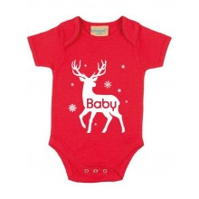 Baby Red Personalised Short-sleeved bodysuit
