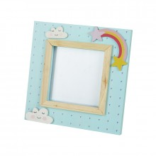 Blue rainbow picture frame