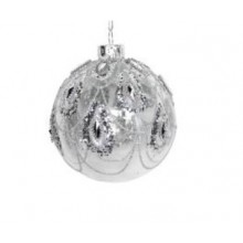 Bauble w Silver Glitter swags