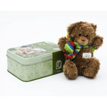 Travel Bear Teddy in a tin