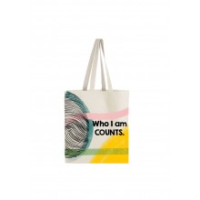 Who I Am Counts Tote Bag - Coloured Design