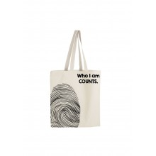 Who I Am Counts Tote Bag - Black Print