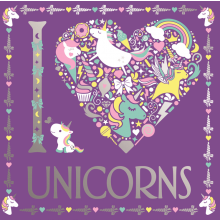 I Love Unicorns Colouring Book