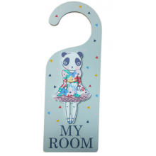 Pandas Wood My Room Door Hanger