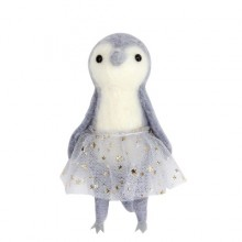 Wool Mix Grey Penguin in Tutu