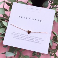 Worry Angel Rose Gold Stainless Steal Bracelet