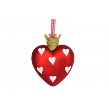 Heart bauble with crown