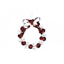 Red/white jingle bell wreath