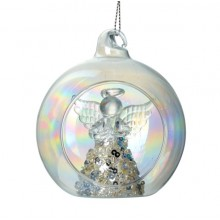 Clear glass bauble angel