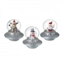 Santa, Snowman and Deer in UFO Mix (1 decoration)