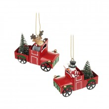 Moose and Snowman Driving Cars (Sold Separatley)