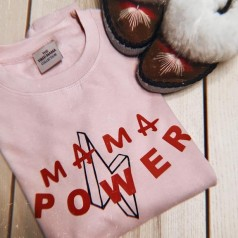 MAMA Power   Pink & Red Jumper