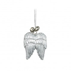 Silver Wings with Bells