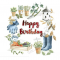 Gardening, Birthday Card